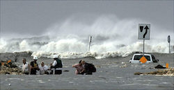 Hurricane Ike storm surge: Sept. 2008 (Photo: NOAA)