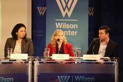 """Dennis (right) called it a year for """"legal nerds, while Rizzuoto (center) predicted activity on TSCA and Volcovici (left) said the coal revival story is """"not necessarily a great one."""" Photo: Courtesy Wilson Center"""