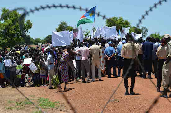 Caution is always important in conflict zones, where last-minute protests such as this one in South Sudan can sometimes turn deadly