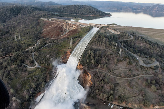 Spillway at California's Oroville Dam