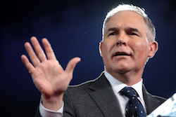 EPA Administrator Scott Pruitt, shown above at a Feb. 25, 2017 event, raised integrity concerns when he took measures to purge members from EPA science panels.