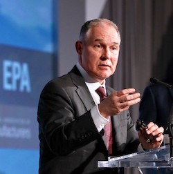 U.S. EPA Administrator Scott Pruitt at a National Association of Manufacturers ‎Spring Board of Directors meeting in Scottsdale, Ariz., in early March.