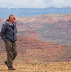 Interior Secretary Ryan Zinke at the Grand Staircase-Escalante National Monument in Utah on May 17, 2017. The monument's status is under review.